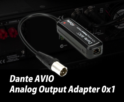 Dante AVIO Analog Output Adapter 0x1